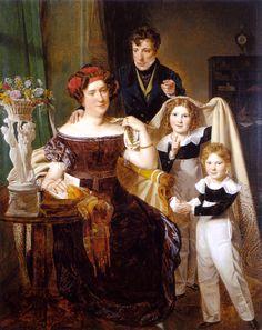 Ferdinand Georg Waldmüller (1793-1865) — Freiherr von Odkolek with his wife and two sons, 1826   (1240×1565)