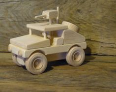 Madera juguete ejército tanque M1A1 madera por OutOnALimbADK