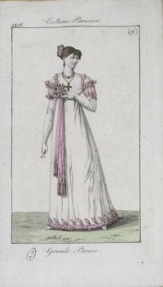 1806 Costume Parisien Fashion Plate No 16 Grande Parure