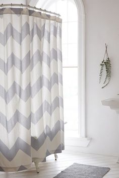 Shop Zigzag Shower Curtain At Urban Outfitters Today