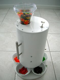 Skittles sorting machine by Brian Egenriether - (this invention was also featured in the Huffington Post. His youtube channel - http://www.youtube.com/user/egenriether - JD)