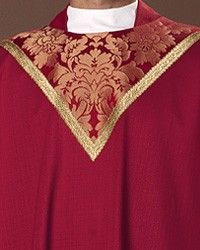 Cloisters Red Chasuble: red liturgical vestment for priest or deacon Priest, Custom Items, Funeral, Damask, Knitting, Red, Damascus, Tricot, Breien