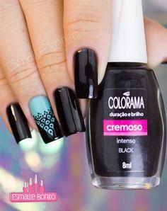 Esmalte Black Colorama Hair And Nails, My Nails, Nara, Gorgeous Nails, Manicures, Nail Tips, Cute Nails, Pedicure, Glaze