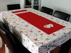 Ceviz Elişleri: Romantik masa örüsü takımım