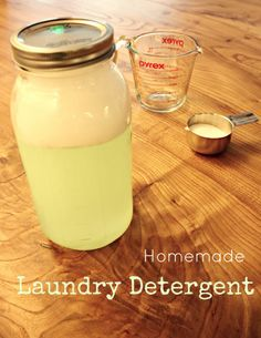 Homemade Laundry Detergent #cleaning #clothes #stain_removal