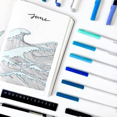 Here we go! - June Ocean theme for you ••••••••••••••••••••••••••••••• #bujo #lovebujo #oceantheme #bulletjournal #bulletjournals…