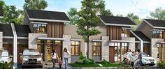 Terrace House Exterior, Facade House, Narrow House Plans, New House Plans, Row House Design, Modern House Design, Concept Architecture, Architecture Design, Cluster House