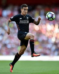 Philippe Coutinho of Liverpool during the Premier League match between Arsenal and Liverpool at Emirates Stadium on August 14 2016 in London England Liverpool Football Club, Liverpool Fc, World Football, Football Players, Premier League Matches, Sports Stars, London England, The Magicians, My Boys