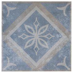 French Quarter Bourbon Porcelain Tile Bath Tiles, Bathroom Floor Tiles, Marble Tiles, Cement Tiles, Tile Floor, Royal Pattern, Pattern Mixing, Dog Shower, Shower Floor