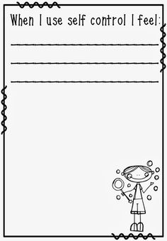 free self discipline coloring pages   Self-Control Activity Sheet   of how to complete the self ...