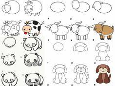 Zeichnen lernen mit Anleitungen für Kinder - Witzige Figuren & Motive