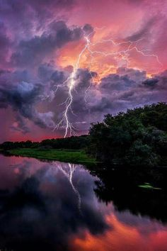 storms and skies lightning art