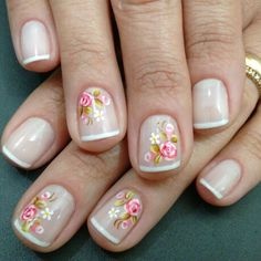 Having short nails is extremely practical. The problem is so many nail art and manicure designs that you'll find online Nail Art Hacks, Gel Nail Art, Acrylic Nails, Bright Nails, Pastel Nails, Cute Nails, Pretty Nails, Hair And Nails, My Nails