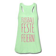 FUSSBALL • FESTE • FEIERN • Leicht fließendes Top mit Racerback