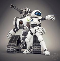 Wall-E y Eve transformación