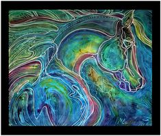 EMERALD EYE EQUINE ABSTRACT BATIK