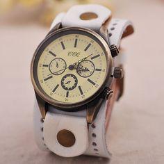 Náramkové hodinky Vintage Mauricette White