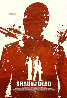 Shaun of the Dead minimalist movie poster