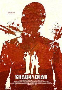 Shaun of the Dead - minimalist movie poster