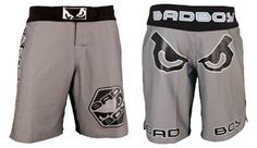 Bad Boy Legacy Fight Shorts Charcoal - $98