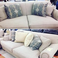 This two piece sofa set is ready for a new home! Buy it at our store on Eastchester Drive before it's gone!