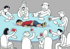 26 Satirical Illustrations Demonstrating the Dreadful Reality of Modern Culture Caricatures, Deep Art, Jokes Pics, Funny Relationship Memes, Social Art, Arte Horror, Arte Pop, Political Cartoons, Political Art