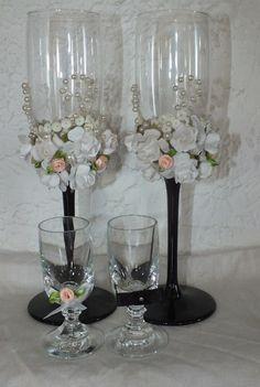 Co ja robię tu?...: Kieliszki weselne.... Glass Vase, Wedding, Home Decor, Valentines Day Weddings, Beautiful Things, Bonito, Decoration Home, Room Decor, Weddings
