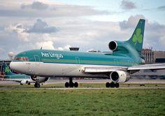 Aer Lingus L-1011 TriStar. Aer Lingus y British han sido prácticamente los únicos usuarios europeos de este aparato. Nótese la matrícula británica G-BBAF