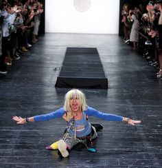 Betsey Johnson paid tribute to her beginnings by going back in time on the runway at her #NYFW show.