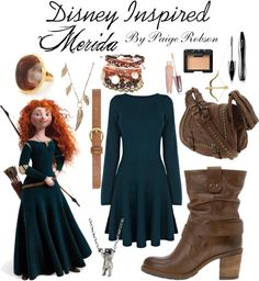 """Disney Inspired: Merida"" by paige-robson ❤ liked on Polyvore"