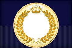 Vamos imprimir e fazer uma linda festa com o tema Coroa Príncipe Azul Marinho?…