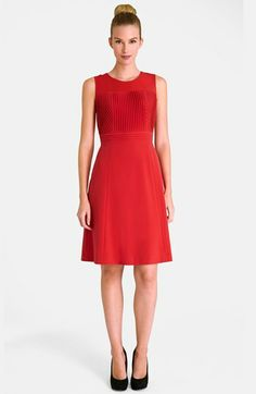 Tahari Stretch Knit Fit & Flare Dress (Petite) available at #Nordstrom