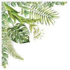 Mural Painting, Mural Art, Wall Murals, Corner Wall, Tropical Art, Tropical Frames, Ios Wallpapers, Decals, Wall Decal