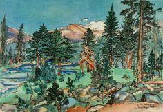 Clouds, Upper Lyell Trail, along Lyell Fork 1930 Chiura Obata Born: Okayama-ken, Japan 1885 Died: Berkeley, California 1975
