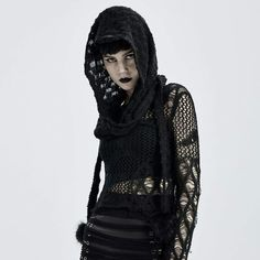 Brand:Punk Rave Material:Arylicfiber;Wool;Polyester Weight:0.14KG Size:One Size Sku:WS-448WJF Scarf Hat, Knit Beanie, Hooded Scarf, Hooded Jacket, Gothic Fashion, Vintage Fashion, Tartan Dress, Punk Rave, Winter Accessories