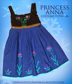 Princess Anna Costume Dress Tutorial