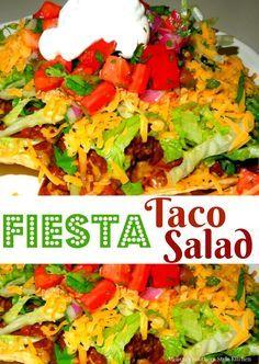 Fiesta Taco Salad Fiesta Taco Salad Recipe : http://ift.tt/1hGiZgA And @ItsNutella  http://ift.tt/2v8iUYW