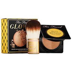 Too Faced Glow To Go Deluxe Sun Bunny Bronzer & Flatbuki Brush oz. ** Click image for more details. Beauty Nails, Beauty Makeup, Gluten Free Makeup, Hair Color Pictures, Bronzer Makeup, Too Faced, Face Art, Natural Makeup, Bath And Body