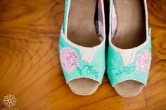 wedding wedge TOMS painted by Lisarachel