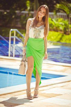 Look do dia - It Blog #assimetria #skirt #summer15 #ootd