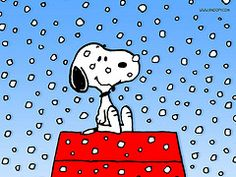 snowing on snoopy