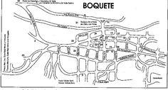 Mapa de la Ciudad de Boquete, Chiriquí, Rep. de Panamá