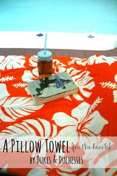 a pillow towel for the beach