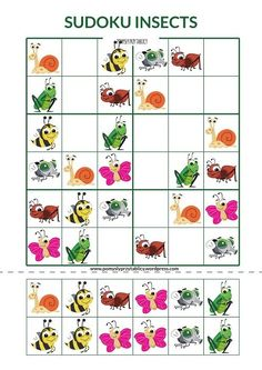 Insects are coming! Sudoku Insects games for kids Sudoku Puzzles, Logic Puzzles, Word Puzzles, Math For Kids, Puzzles For Kids, Games For Kids, Insect Games, English Worksheets For Kids, Teaching Kids