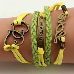 Prezzi e Sconti: #Retro letter heart embellished charm bracelet Instock  ad Euro 2.87 in #As the picture #Fashion jewelry bracelets