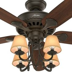 Image result for hunting lodge ceiling fans rustic ceiling fans hunter 54 inch cortland new bronze 5 blade dark cherry walnut fan free shipping today overstock 16179329 mobile aloadofball Image collections
