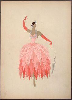 Erté, Costume Sketch, 'Le Rêve La Jeune Fille Robe', circa 1948.