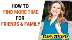 How to find more time for family & friends. How to find time for everyth... Online Psychologist, Inspirational Videos, Self Development, Self Improvement, Friends Family, Self Help, Psychology, Parenting, Thankful
