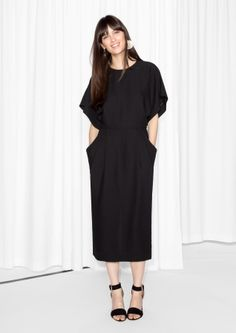 & Other Stories image 1 of Open Back Dress  in Black