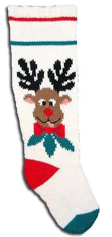 Rudie - Christmas Stocking Kit to knit. The stockings can be adjusted from to in length. Knitted Christmas Stocking Patterns, Christmas Charts, Crochet Stocking, Christmas Stocking Kits, Knitted Christmas Stockings, Christmas Knitting, Stocking Ideas, Xmas, Crochet Christmas